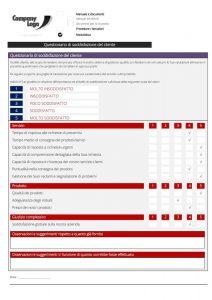 Modulo a lettura ottica per valutare la soddisfazione del cliente dei servizi offerti